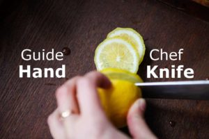 how to hold a chef knife and guide hand