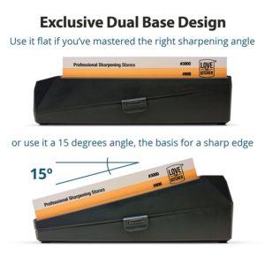 best knife sharpener stone dual base