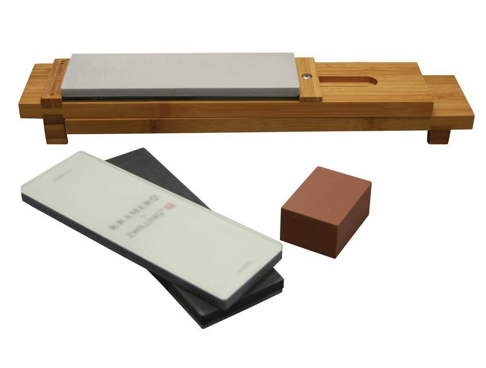 Bob Kramer Zwilling JA Henckels 6 Pc Glass Waterstone Sharpening Stone Set